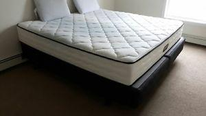 King size box spring and steel frame