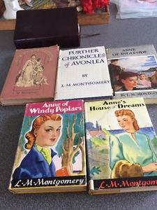 L.M.Montgomery Anne of Green Gables 5 Book Lot