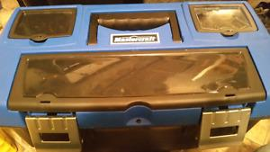 Large Blue Mastercraft Brand New Tool Kit Comes with a bunch