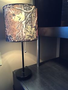 Like New Table Lamp with Camo Shade - $10