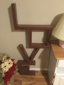 Love sign made out of 2x4 wood 50$