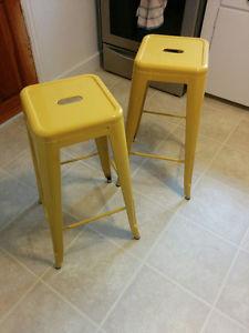 Modern Design Yellow Barstools - set of 2
