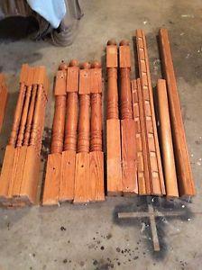 Oak wood railings
