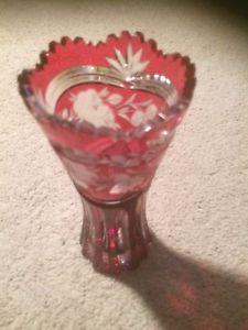 Quality pink crystal vase