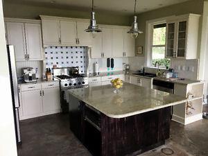 RENO/DEMO kitchen cabinets island and granite countertops