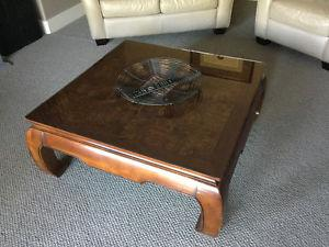 Real wood coffee table set