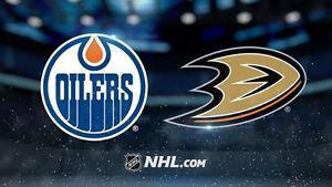 Reduced! Oilers v Ducks game 3 Sunday $400