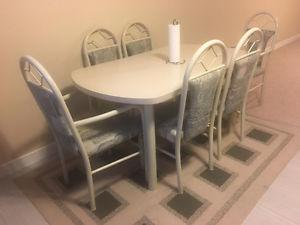 SIX CHAIRS DINING TABLE SET,BOUGHT AT BRICKS 250$ FIRM