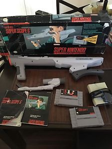 Super scope for Super Nintendo plus another game