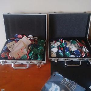 Two Packs of Casino Chips and Cards