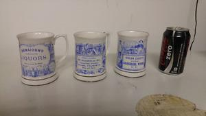 Vintage Bluebird Fine Bone China Mugs.