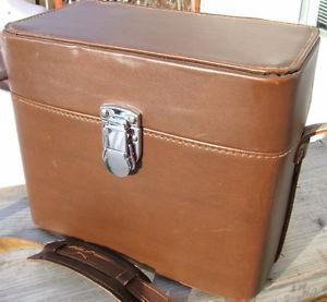 Vintage Leather Camera Bags Medium Large Sized VGC