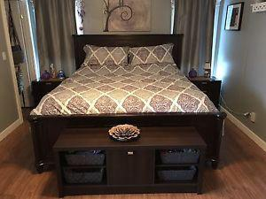 Wanted: Real wood king bed set, not sold separate