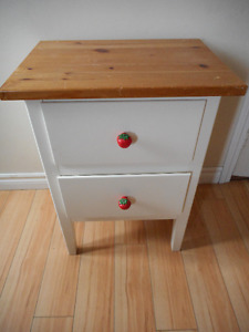 cute wooden stand with 2 drawers