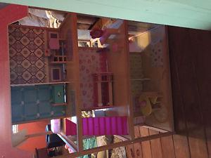 3 story doll house with furniture
