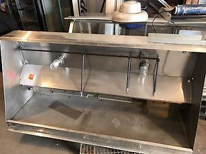 7x3.7 Foot Restaurant Hood Vent & Fire Suppression System
