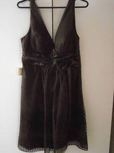 Brown Formal Halter Dress