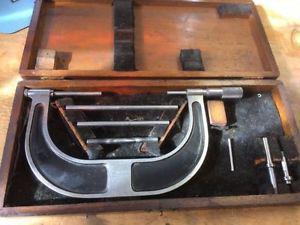 """Brown@Sharpe Micrometer anvil set No-55 2""""x 6"""""""