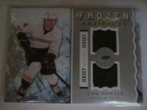 Cam Fowler artifacts dual jersey hockey card