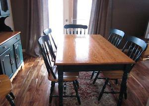 Canadian made dining table,chairs and hutch