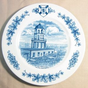 Collector Plate Old town Clock