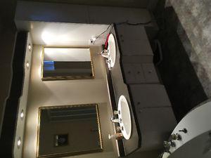 Comptoir complet de salle de bain
