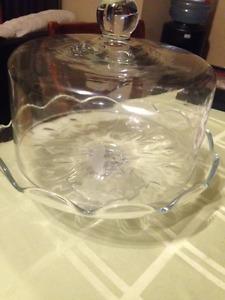 Crystal Cake Plate - 2pc Princess House