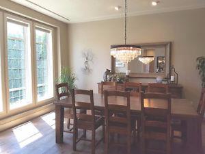 Custom Made Solid Wood Dining Room Set