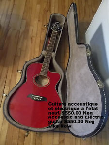 Electric and Accoustic like new with case.