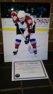 Eric Lacroix Colorado Avalanche autographed hockey photo