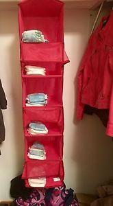 Hanging closet organizer