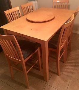 Higher-End Solid Wood Dining Room Table and Nine Chairs