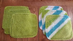 Homemade dish cloths