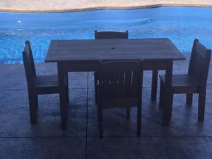 Kids wooden outdoor table