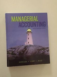 Managerial accounting used book