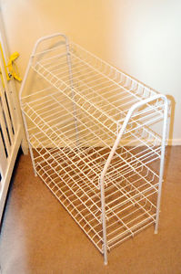 Moving Sale! Metal White Shoe Rack - $.
