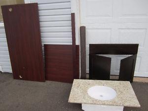 """NEW 36"""" Bathroom Granite top and sink Vanity Parts"""