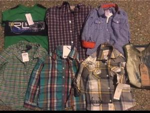 New with tags boys shirts Ralph Lauren Mexx 4 t clothes lot