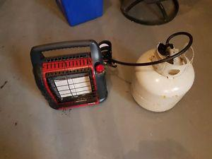 Outdoor Propane heater and tank