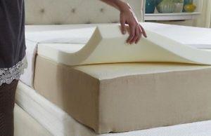 Queen size memory foam mattress topper