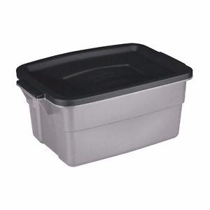 RUBBERMAID LARGE STORAGE TOTES WITH COVERS -INDOOR/OUTDOOR