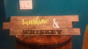 Rustic Hand Painted Wooden Sign