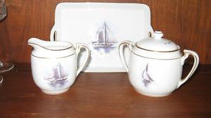 Sugar and Creamer with Serving Tray