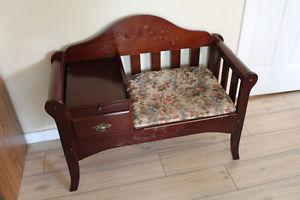 Telephone bench chair