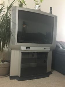 "Toshiba TV, 36"" screen (not a flat screen). Matching TV"