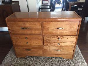 Vintage 6 Drawer Solid Wood Dresser