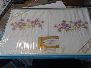 "Vintage ""Fifth Avenue Originals"" Embroidered Pillow Cases"