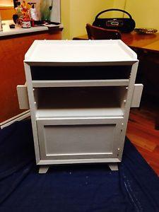 "Vintage Kitchen Island / Cabinet On Casters 29"" x 17"" x"