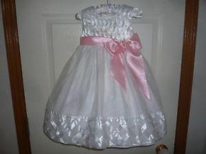 White Flower Girl Dress for Sale Size 3/4
