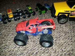 monster trucks & tonka tow truck